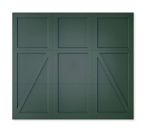 Timberlane offers many different styles of our trifold collection of garage doors