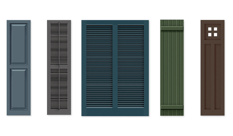 Timberlane offers panel, louver, bahama, board and batten, and mission style shutters