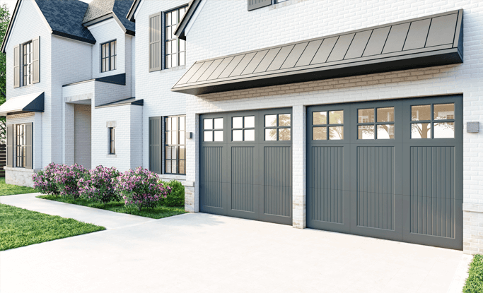 In addition to shutters, Timberlane produces custom garage doors in an array of different styles